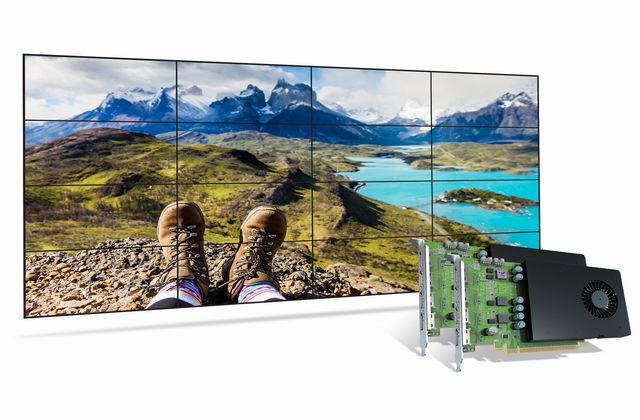 Matrox Now Shipping D-Series D1480 Graphics Card for High-Density-Output Video Walls
